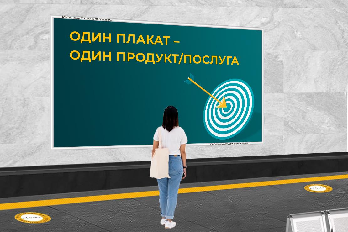 Стратегія розміщення реклами в метро: як обирати станції, та що писати на плакатах?